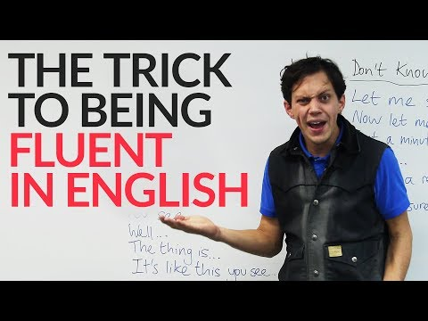 Sound more fluent in English