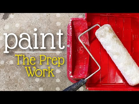 How To Paint | The Prep Work for drywall painting