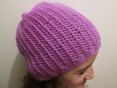 Tuto tricot apprendre a tricoter un bonnet au point de filet trop facile youtube - Modele de bonnet a tricoter facile ...