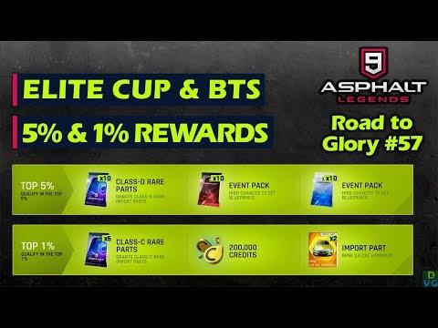 Asphalt 9: Legends - F2P RTG #57 | Top 5% Elite Cup & Top 1% BTS Weekend Rewards