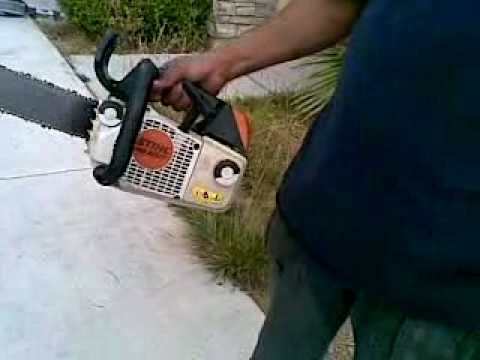 Stihl Ms 200t One Hand Chainsaw Good Condition For Ebay Sale Youtube