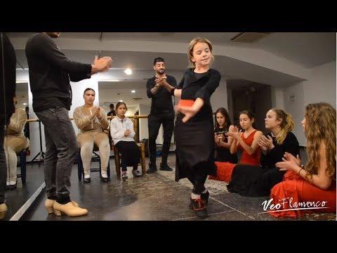 IRENE bailando en la Escuela Internacional de Flamenco Manolete, de Granada | VEOFLAMENCO
