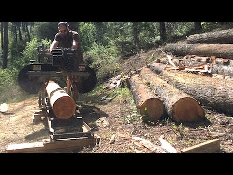 Mountain Dream Home — Milling Lumber with the Sawmill