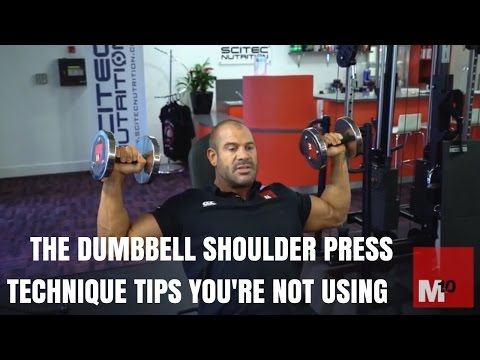 The dumbbell shoulder press - Technique tips you're not using