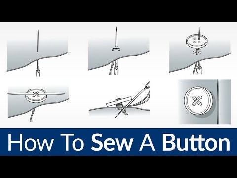 How To Sew On A Button | Quick & Easy Sewing By Hand