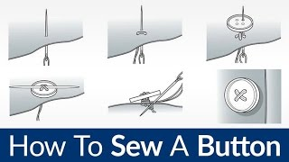 How To Sew On A Button   Quick & Easy Sewing By Hand