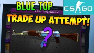 CS GO Trade Up: AK-47 Case Hardened Blue Top Attempts! (CS:GO Rare Skins Trade Ups)