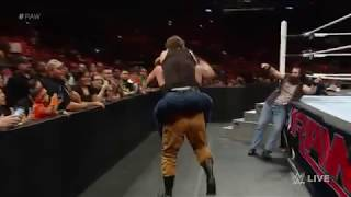 Randy Orton joins forces with Dean Ambrose and Roman Reigns  Raw  Sept  21  2015   360P
