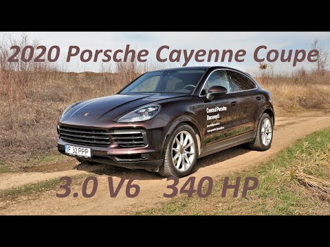 2020 Porsche Cayenne Coupe 3.0 V6 340 HP A8 - accelerations, engine & exhaust sound
