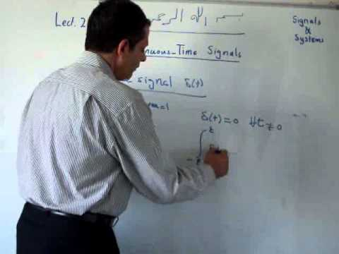 lect2: Continuous-time signals (in Arabic)
