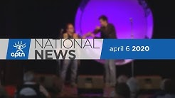 APTN National News April 6, 2020 – Weighing in on homemade masks, Indigenous performers online