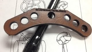 Laser cutting a bowsling leather on our 40w CO2 laser
