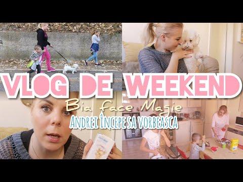 Vlog de weekend 😊Bia face Magie și Andrei începe sa vorbească 😉😀💪