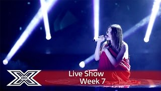 Lady in red Emily Middlemas wows with Roxette cover | Live Shows Week 7 | The X Factor UK 2016(Visit the official site: http://itv.com/xfactor She's the lady in red, and taking on a song from the movie Pretty Woman! Emily Middlemas closes the show with her ..., 2016-11-19T21:32:18.000Z)