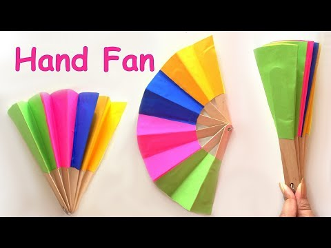 DIY - Homemade paper hand fan / best out of waste / kids craft ideas | Como Hacer Abanico