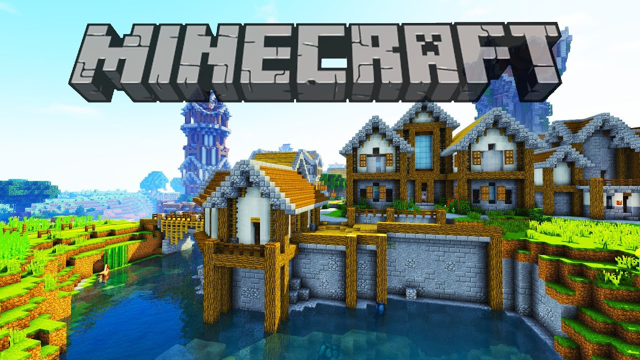 House on the water | Minecraft Survival Let's Play - YouTube