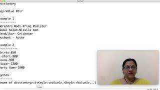 Class 11 IP(065) Dictionary in Python Part-1 by Meenakshi Mam