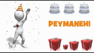 HAPPY BIRTHDAY PEYMANEH!