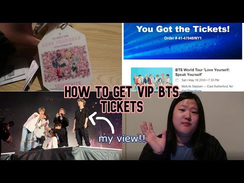 You Can Get Vip Bts Tickets Too!! How To Get Bts Tickets