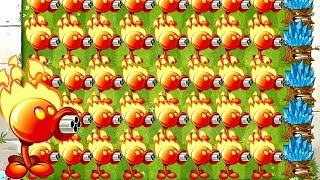 Plants vs Zombies 2 Mod All Peashooters and Torchwood in Action Challenge