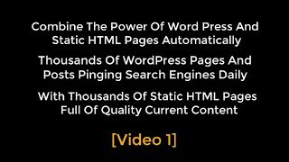OTP Combining WP With HTML Pages Using Organic Traffic Platform Hybrid Video 1