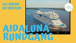 AIDAluna Rundgang 2019 mit allen Neuheiten