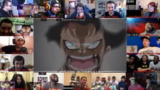 16 Reactors!!!One Piece episode 870  luffy snakeman vs katakuri reaction mashup