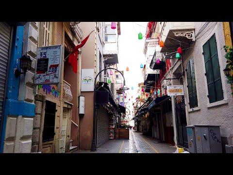 Walking in Izmir, Alsancak: Bars and Restaurants Closed Again - Turkey (4K 60fps)