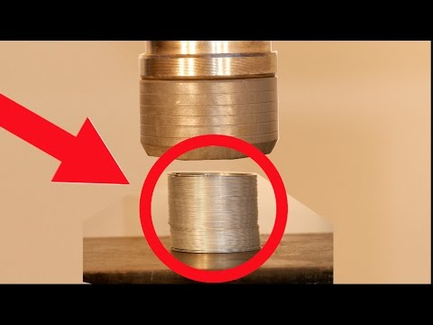 Crushing Slinky with Hydraulic Press! Childhood memories CRUSHED!