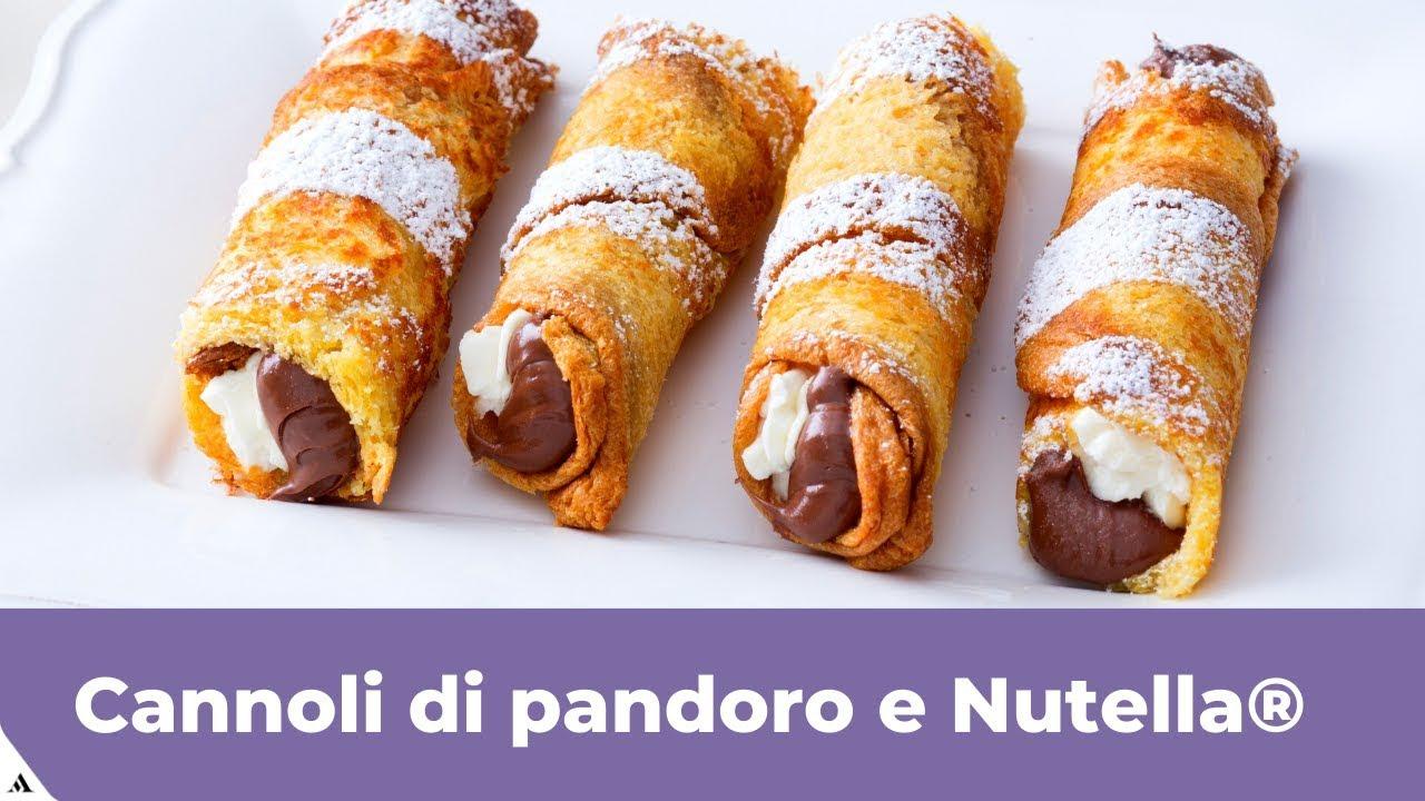 Ricetta Tiramisu Con Pandoro Giallo Zafferano.Cannoli Di Pandoro E Nutella Youtube