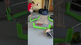 Rubber Band Trampoline #Shorts