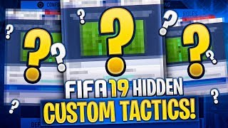 FIFA 19 SECRET TACTICS YOU NEED TO KNOW - GAME CHANGING HIDDEN TACTICS - FIFA 19 TUTORIAL