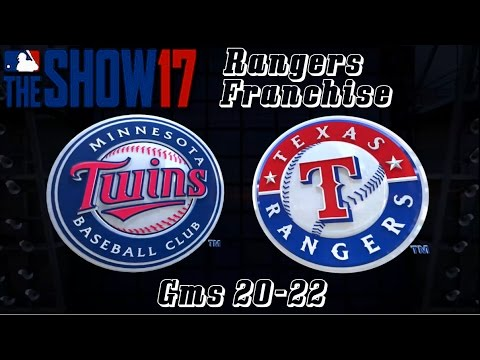 MLB 17 The Show Texas Rangers Franchise - gms 20-22 vs Minnesota Twins