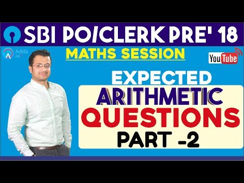 Expected Arithmetic Questions (Part-2) By Sumit Sir | Maths