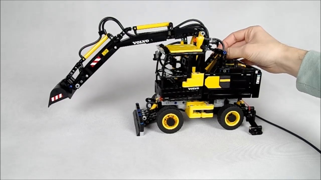 moc lego technic volvo ew160e instructions youtube. Black Bedroom Furniture Sets. Home Design Ideas