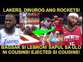 BAGSAK si Lebron! SAPUL sa ULO kay Cousins! | Lakers, DINUROG ang Rockets!