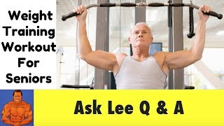 Weight Training Workout Tips for Seniors 70+