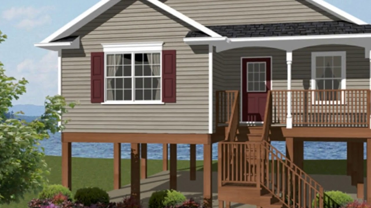 Elevated house plans for flood zones ideas