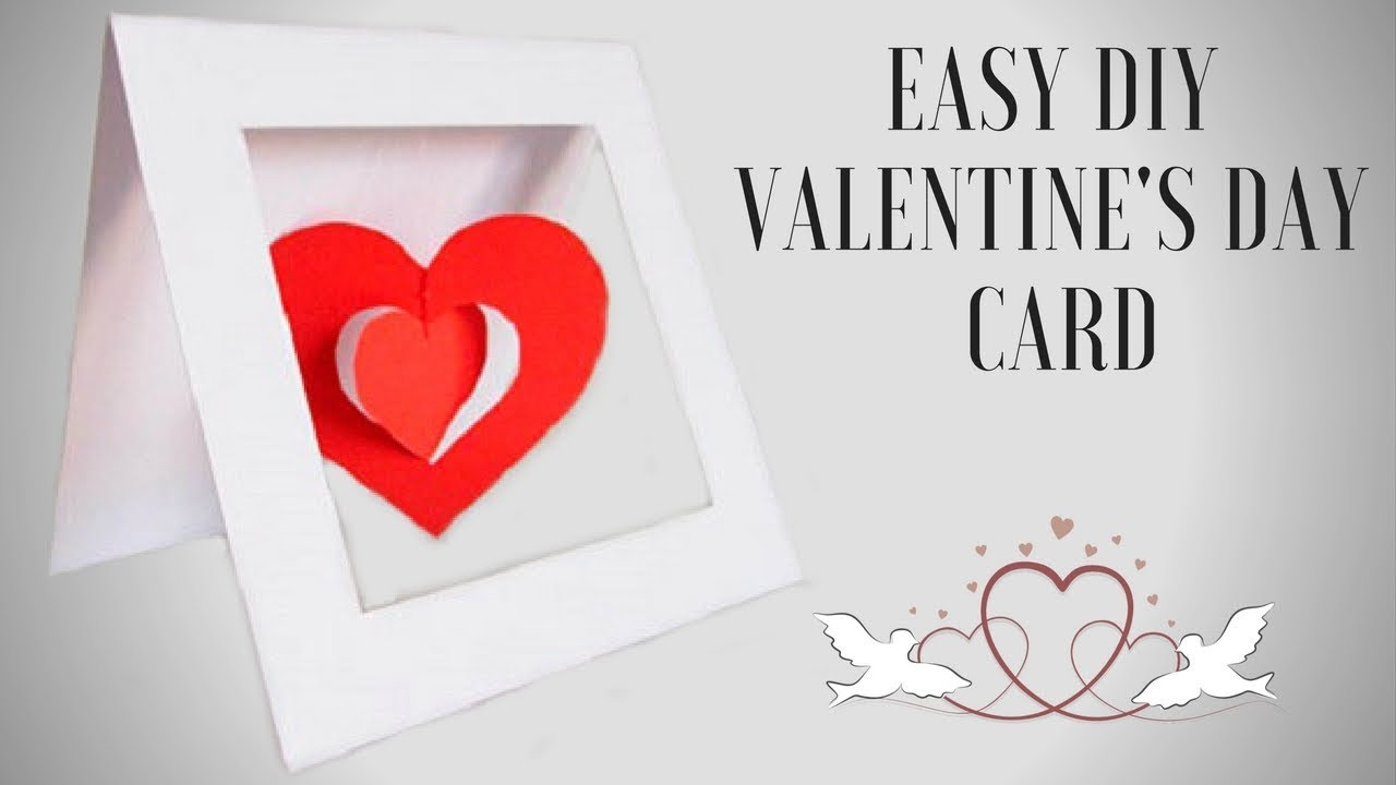 Diy valentines day card anniversary cards gift idea! hand made