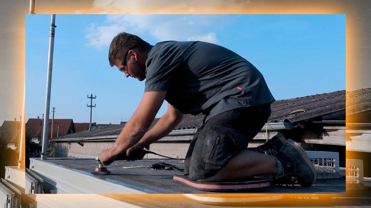 wohnmobil dach abdichten reparatur mercedes benz lpl 813. Black Bedroom Furniture Sets. Home Design Ideas