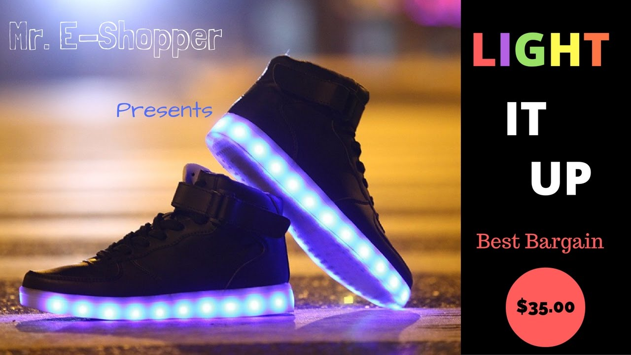 LED Light Shoes that make Shuffle
