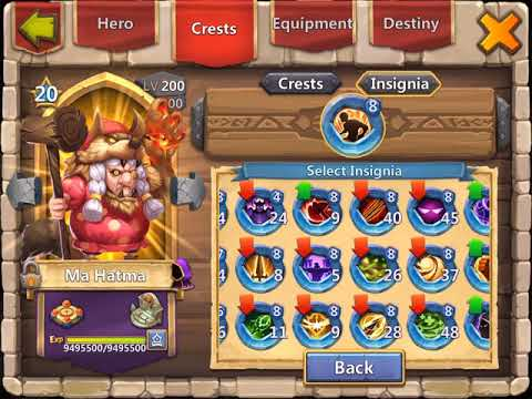 800K Might Hero Altar Review (4/4)   The Heroes   Castle Clash