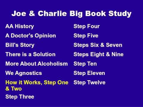 Joe & Charlie Big Book Study Part 7 Of 15 - How It Works, Step One And Two
