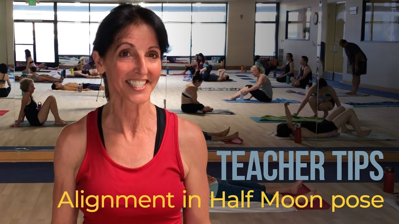 Alignment in Half Moon pose - YouTube