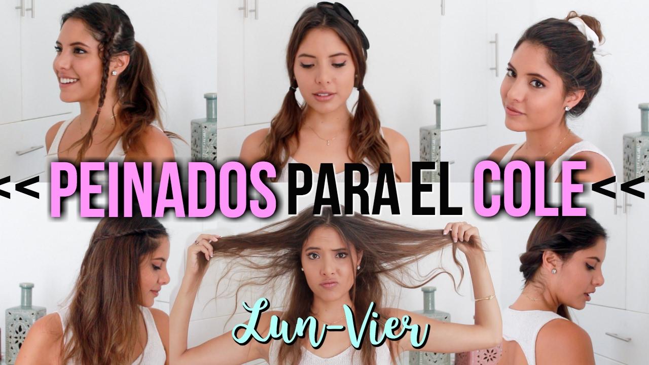 PEINADOS FÁCILES Y RÁPIDOS PARA CLASES | Valeria Basurco