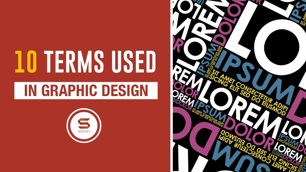 words and terms in graphic design youtube