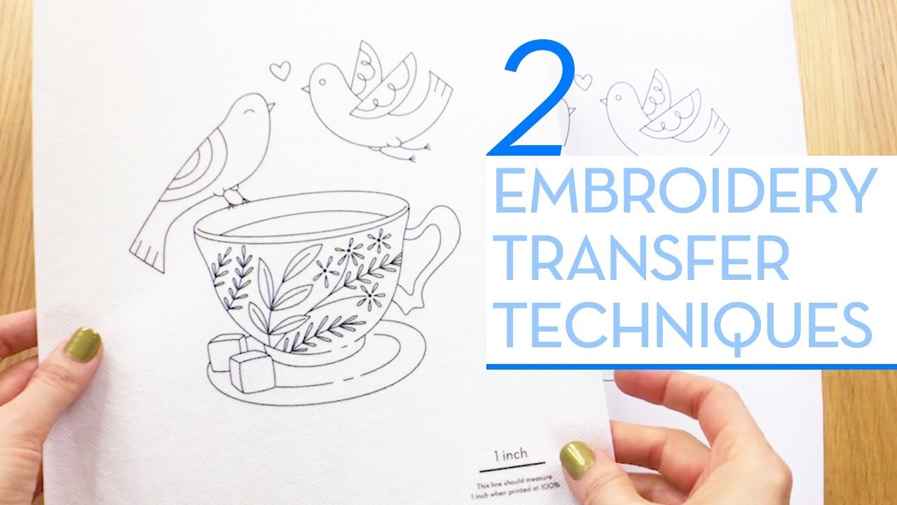 My 2 Most Used Ways To Transfer An Embroidery Design To Fabric