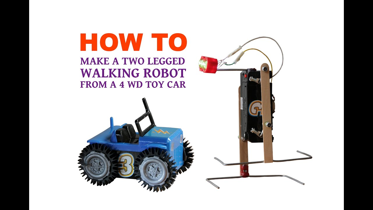 How to make a walking robot from 4 wd toy car youtube for How to create a motor