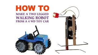 How to Make a Walking Robot From 4 WD Toy Car