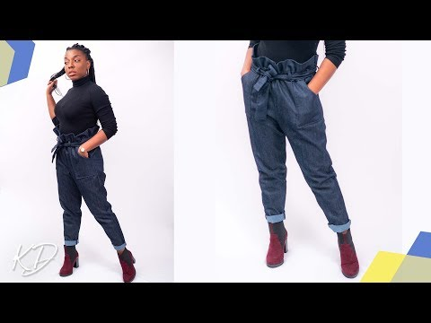 HOW TO SEW PAPERBAG TROUSERS | KIM DAVE